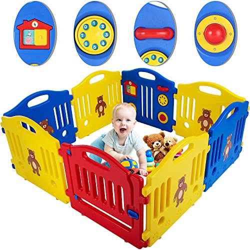 Baby Playpen for Babies Baby Play Playards 8 Panels Infants Toddler Baby Fence...