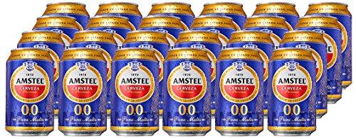 Amstel 00 Cerveza - Caja de 24 Latas x 330 ml - Total: 7.92 L