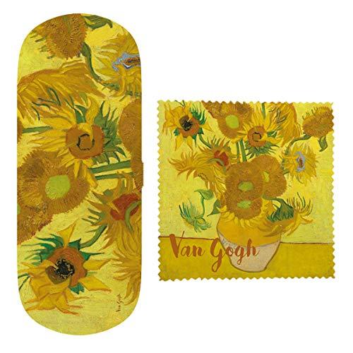 VAOFO Van Gogh 523490 Astuccio Custodia per Occhiali, Tessuto in Microfibra, Modello Quindici Girasoli