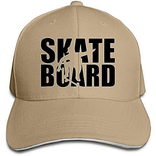 Dale Hill Unisex Baseball Cap Skateboard Baumwolle Flacher Hut Verstellbare Retro Sport- und Outdoor-Kappen