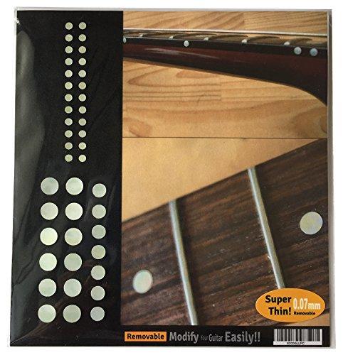 Inlaystickers Sticker Griffbrett Position Marker für Gitarren & Bass - Custom Dots Set - Weiß Perle F-085CD-WT-AZ