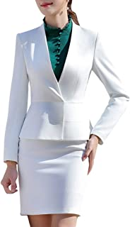 Women's Two Pieces Office Business Suits Office Lady Business Suits for Women Slim Blazer & Pant/Skirt