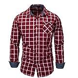 U/A Camisa vaquera de manga larga para hombre Gules 3XL
