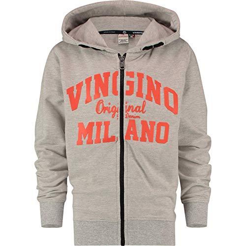 Vingino Jungen Sweatjacke Jacke B-Logo-Sweat-Zip Grey Melee Organic Cotton (164)