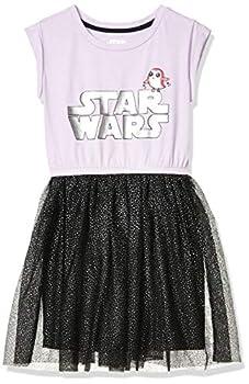 Spotted Zebra Girls  Kids Disney Marvel Frozen Princess Knit Short-Sleeve Tutu Dresses Star Wars PORG Logo Medium
