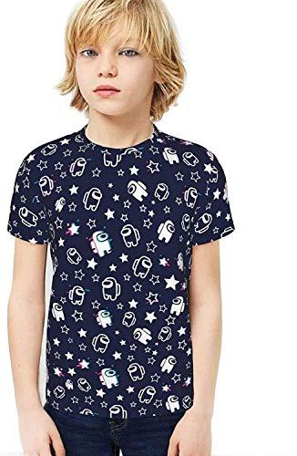 XCNGG Jungen Tops T-Shirts Kids Boys Girls 3D Print T Shirt Short Sleeve Tops