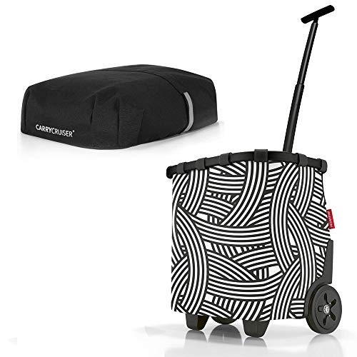 reisenthel Angebot Einkaufstrolley carrycruiser Plus gratis Cover Abdeckung und Sichtschutz! (Zebra)
