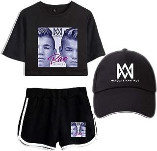 Print Shorts Navel Marcus & Martinus Baseball Cap Gift Concert T-Shirt Black Logo Twin Style Visor Singer Modern/C/XS