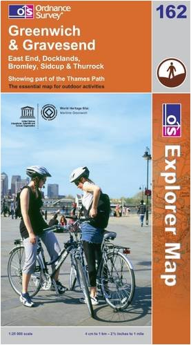 OS Explorer map 162 : Greenwich and Gravesend
