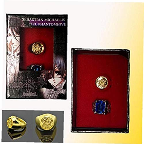 Black Butler Ciel Phantomhive Cosplay Kristall Paare Ring
