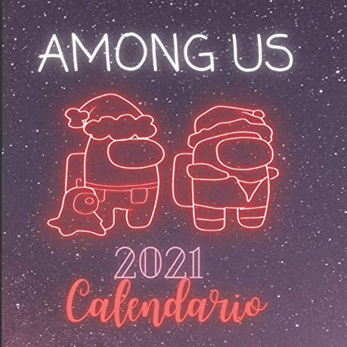 Among Us 2021 Calendario: Among Us Calendario de pared 2021 - idea de regalo para los amantes de Among Us
