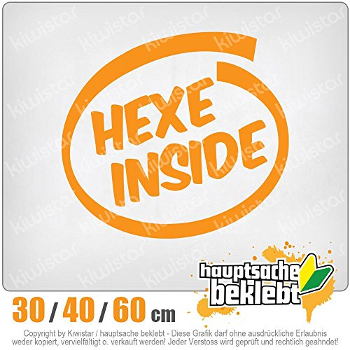 KIWISTAR - Hexe inside Heckscheibe in 15 FARBEN Aufkleber Sticker