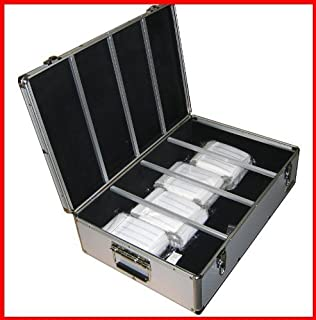 New Aluminum Like CD DVD Storage Case Holds 1000 Discs Silver Box with Hanger Sleeves MegaDisc