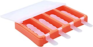 Ice Tray With Lid - 1Set 4 Lids Ice Cream Tray Portable Ice Pop Maker - Plastic Popsicle Mold Ice Cream Mold Maker
