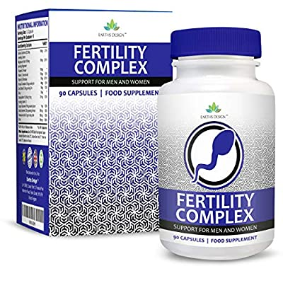 Fertility Vitamin Pills for Men & Women, Conception & Pregnancy Supplement When Trying to Conceive, Natural Reproduction Support to Help Get Pregnant, With Zinc - Biotin - Vitamin C, 90 Capsules by Earths Design