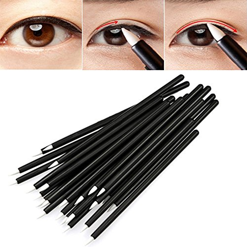 50 pcs jetable Maquillage Eyeliner liquide Wand Applicateur Brosse