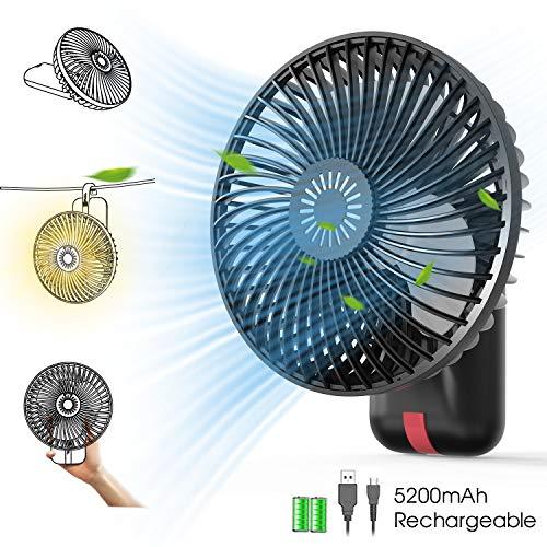 KOXXBASS Portable Fan Desk Fan with LED Lantern, Camping Ceiling Fan...