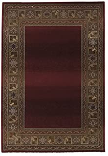 "Oriental Weavers Generations Area Rug, 10"" x 13"", Red/Green (B0049VZDSU) 