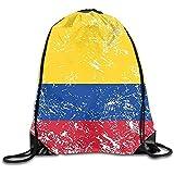 String Pull Bag,Sporttasche Columbia Retro Flag Sport Kordelzug Rucksäcke Reise Daypack Sackpack...