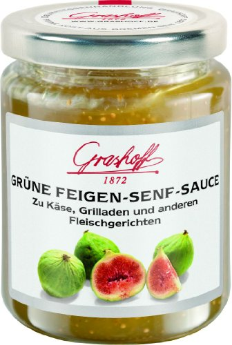 Grashoff Grüne Feigen-Senf-Sauce, 200 ml, 3er Pack (3 x 200 ml)