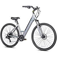 Kent Step 700c Wheels Through Electric Bike (Gray/Aqua)