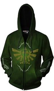 NEW The Legend of Zelda Hyrule Link Cosplay Sweat à Capuche Sweat Zip Manteau Veste