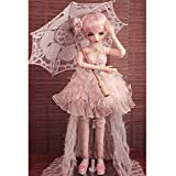 MZBZYU 1/3 BJD Doll 23.62 Inch 60CM Ball Jointed Dolls Reborn Figure + Full Set Accessories + Shoes + Hair + Clothes + Socks,A
