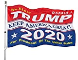 Homissor President Donald Trump 2020 Flag 3x5- Keep America Great MAGA Flag Indoors Outdoors Banner with Grommets