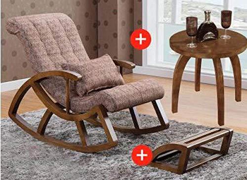 HJFGSAK Mecedora Silla Mecedora para Adultos sillas de Madera Maciza.Chai de Ocio, 11