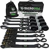 Best Ratchet Straps - RHINO USA Ratchet Straps (4PK) - 1,823lb Guaranteed Review