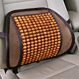 Sarte BS-X2 Mesh Ventilation Wooden Back Rest with Elastic and Belt Support For Car Seat, Office Chairs, home