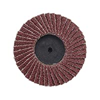 10pcs 40/60/80/120グリット砥石ホイールフラップディスク2 '' 50mmアングルグラインダーサンディングディスクメタルプラスチック木材研磨工具木材研磨ツール (Color : 60)