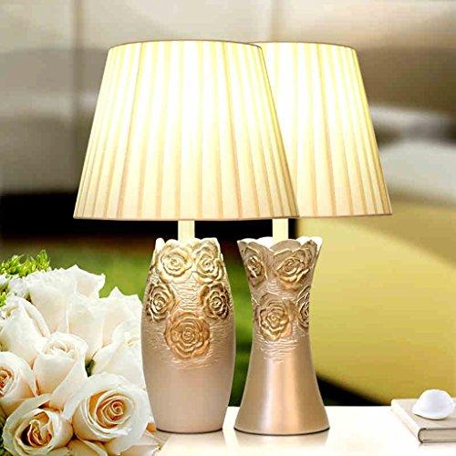 Bonne chose lampe de table Lampe de table européenne Lampe de chevet de chambre à coucher Lampe de table de luxe Lampe de table américaine Lampe de résine