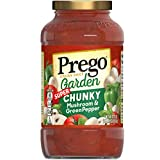 Enjoy chunks of mushrooms & peppers No artificial flavors 40% of daily vegetables [EACH 1/2 CUP SERVING OF SAUCE PROVIDES 1 CUP EQUIVALENT OF VEGETABLES. DIETARY GUIDELINES RECOMMEND 2 1/2 CUPS OF A VARIETY OF VEGETABLES PER DAY FOR A 2,000 CALORIE D...
