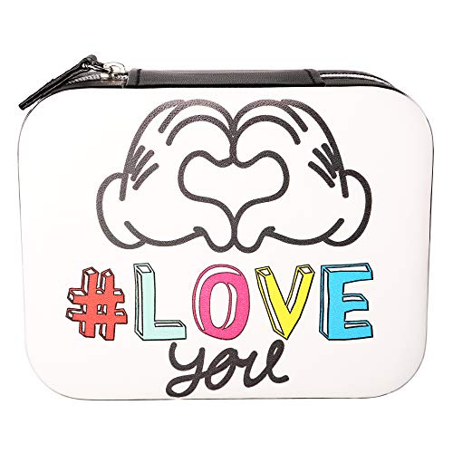 Disney Mickey Mouse Love You Faux Leather Travel Jewelry Box Organizer