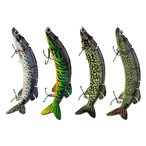 Paystore Style2 : CAMTOA 12,7 cm 20 g réaliste Multi-Joints, leurre de pêche au brochet, au Muskie, au cannabit Dur