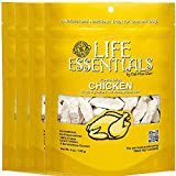 All-Natural Freeze Dried Chicken Treats for Dogs & Cats Free of Grains, Fillers, Additives and Preservatives Proudly Made in the USA - 4 Pack (5 oz. Bag)
