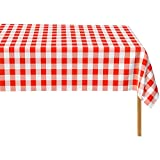 Red Gingham Checkered 12 Pack Standard Disposable...