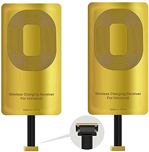 QI Receiver Type A for Samsung Galaxy J7 - J3-J6- S5 - LG V10 -LG Stylo 2-3 -Plus - QI Wireless Adapter– Wireless Charging Receiver- Compatible All Wireless Charger(2pcs)