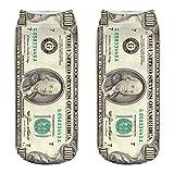 VJGOAL Unisex Moda casual Calcetines de algodón Dólar patrón de billete Impresión 3D Impresión fina Medias deportivas Calcetines(Tamaño del niño,Multicolor1)