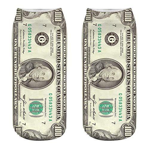 VJGOAL Unisex Moda casual Calcetines de algodón Dólar patr