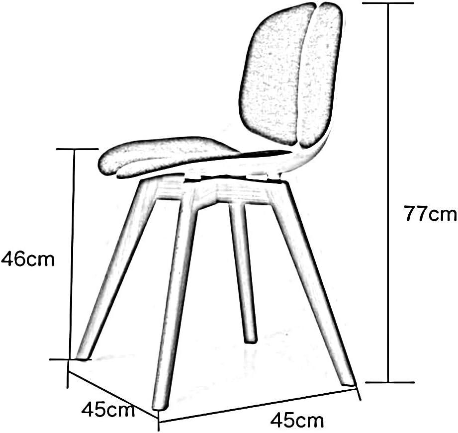 ch-AIR Stool Salle à Manger Chaise Chaise de Cuisine Chaise d'ordinateur Chaise de Bureau Tabouret Chaise de Loisirs 10 Couleurs 45 * 45 * 77 cm (Couleur : 10) 8