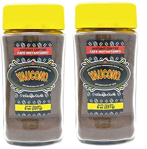 Yaucono Instant Coffee 8 Ounce Jar - 2 Pack