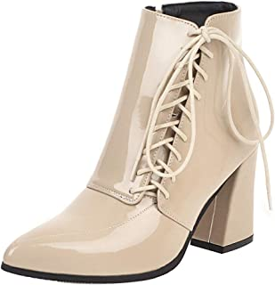 KemeKiss Brand Women Fashion Thick High Heels Booties Pointed Toe