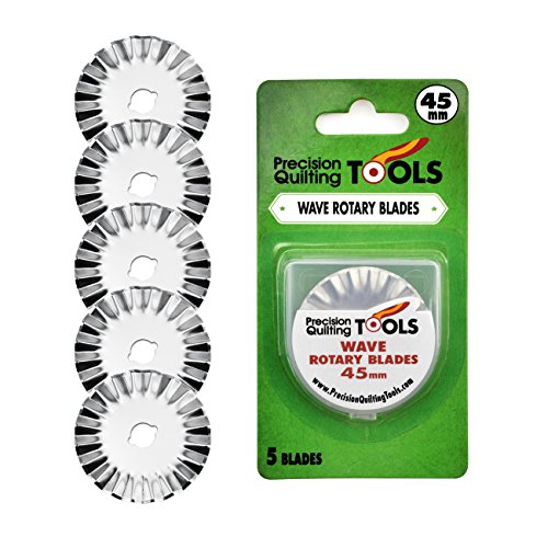 Precision Quilting Tools 45mm Wave Rotary Blade (Pack of 5)