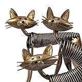 Tooarts Metall Katze Deko Skulptur Dekofigur zum Dekorieren - 6