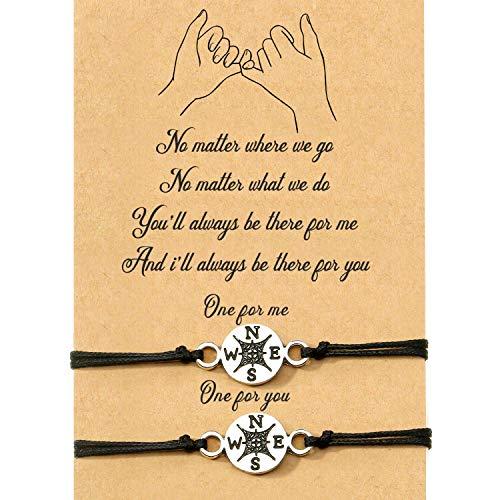 BTYKJ 2-Piece Pinky Infinity Bracelet Friendship Couple Distance Matching Graduation Bracelet Gift