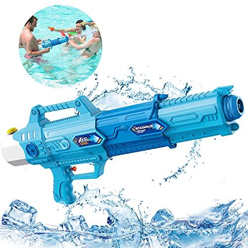 Pistolas de Agua,Pistolas de Agua a presion Juguete,Water Pistol,Pistola de Agua Super,Pistola de Agua de Juguete,Agua Squirt Gun,Pistola de Chorro de Agua para Niños (Azul)