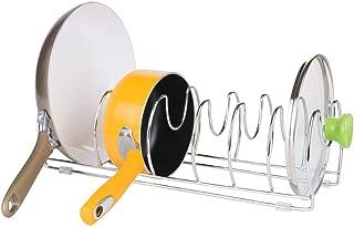 mDesign égouttoir à vaisselle – rangement cuisine en métal – parfait pour ustensile de cuisine (poêles, casseroles et assi...