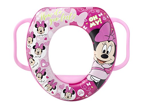 Lulabi 8021 Riduttore WC Disney Minnie 3 con Manico Plastica e PVC Made in Italy, Multicolore